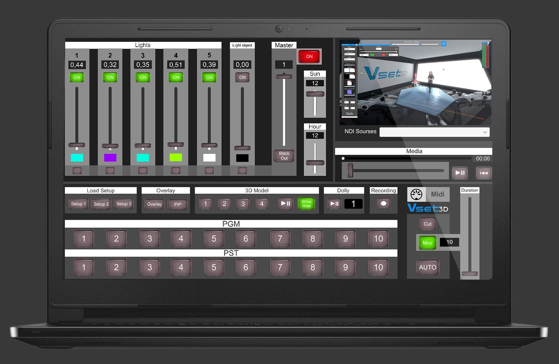 Vset3D Virtual studio Lanswitcher