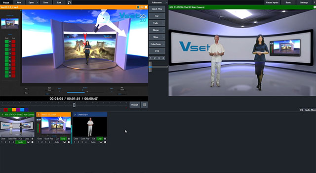 Work with Vset3D & vMix